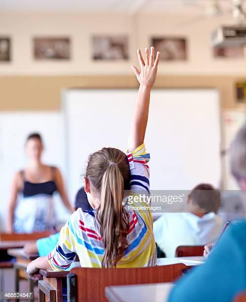 Raising her hand...