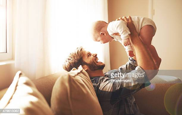 Raising his daughter with so much love