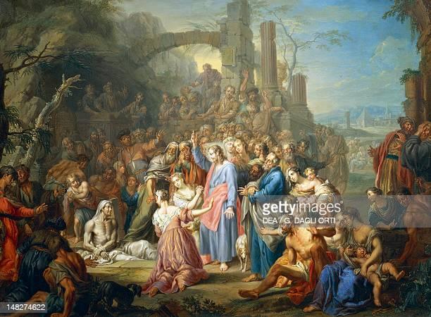 Raising of Lazarus ca 1750 by Franz Christoph Janneck Tours Musée Des BeauxArts