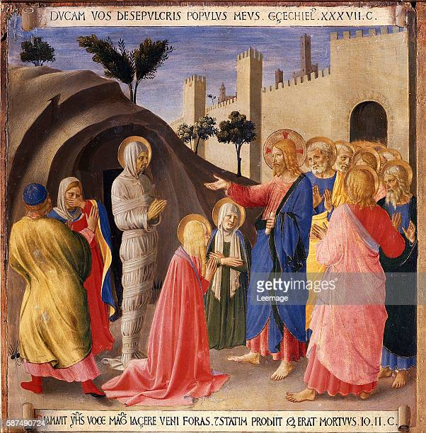 Raising of Lazarus From Scenes From the Life of Christ by Fra Angelico located in: Museo di San Marco, Florence, Italy