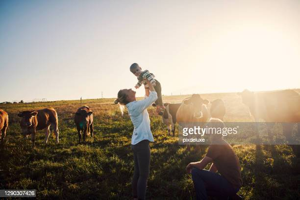 raising one happy country kid - farmer stock pictures, royalty-free photos & images