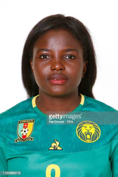 Raissa Feudjio of Cameroon poses for a portrait during the official FIFA Women's World Cup 2019 portrait session at Crowne Plaza Montpellier Corum on...