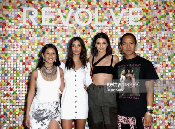 Raissa Gerona Emily Ratajkowski Kendall Jenner and Michael Mente attend #REVOLVEfestival Day 1 on April 14 2018 in La Quinta California