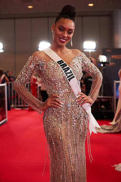 Raissa Santana Miss Brazil 2016 on the red carpet before The 65th MISS UNIVERSE® contest held at the Mall of Asia Arena on January 29 2017 in Manila...