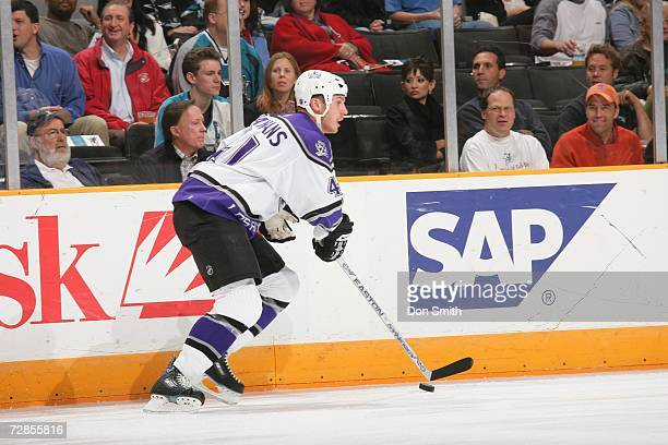 Raitis Ivanans of the Los Angeles Kings skates during a game against the San Jose Sharks on December 14 2006 at the HP Pavilion in San Jose...