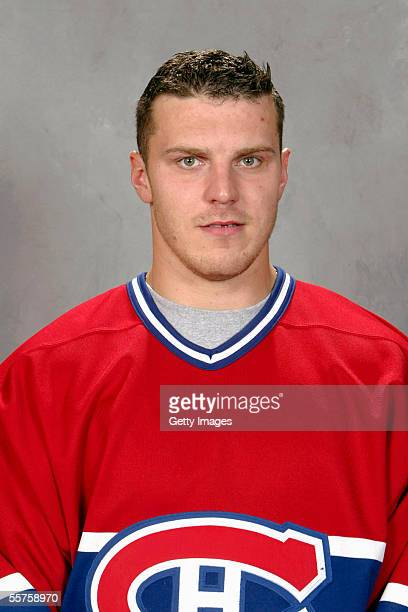 Raitis Ivanans of the Montreal Canadiens poses for a portrait at Bell Centre on September 122005 in Montreal Canada