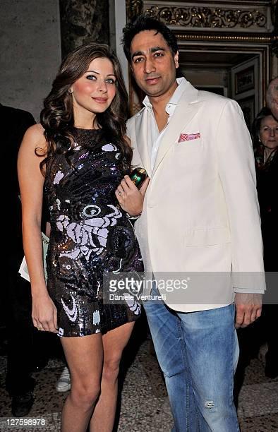 Raj Chandhok and Kanika Chandok attend the Emilio Pucci fashion show as part of Milan Fashion Week Womenswear Autumn/Winter 2011 on February 26 2011...