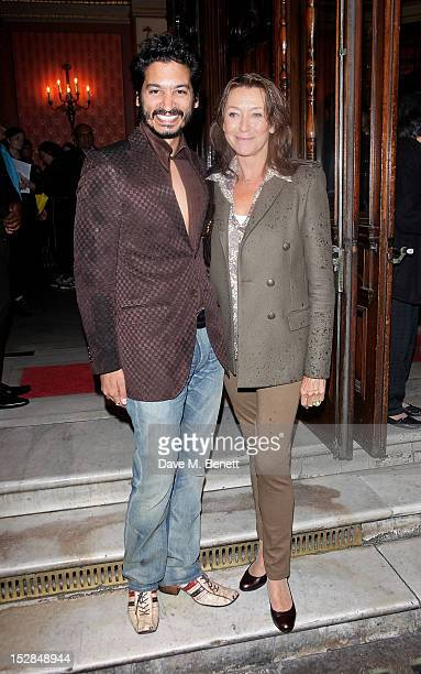 Raj Ghatak and Cherie Lunghi arrive for the Press Night performance of the RSC's 'Much Ado About Nothing' at The Noel Coward Theatre on September 27...