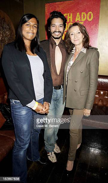 Raj Ghatak and Cherie Lunghi attends an after party following the Press Night performance of the RSC's 'Much Ado About Nothing' at Salvador and...