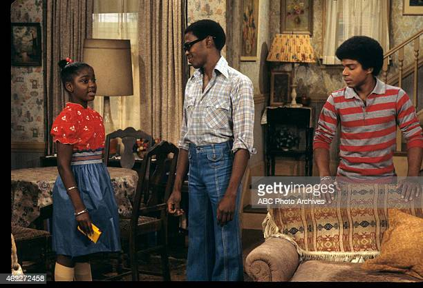 "Raj Goes to Press"" - Airdate: October 13, 1977. L-R: DANIELLE SPENCER;ERNEST THOMAS;HAYWOOD NELSON"