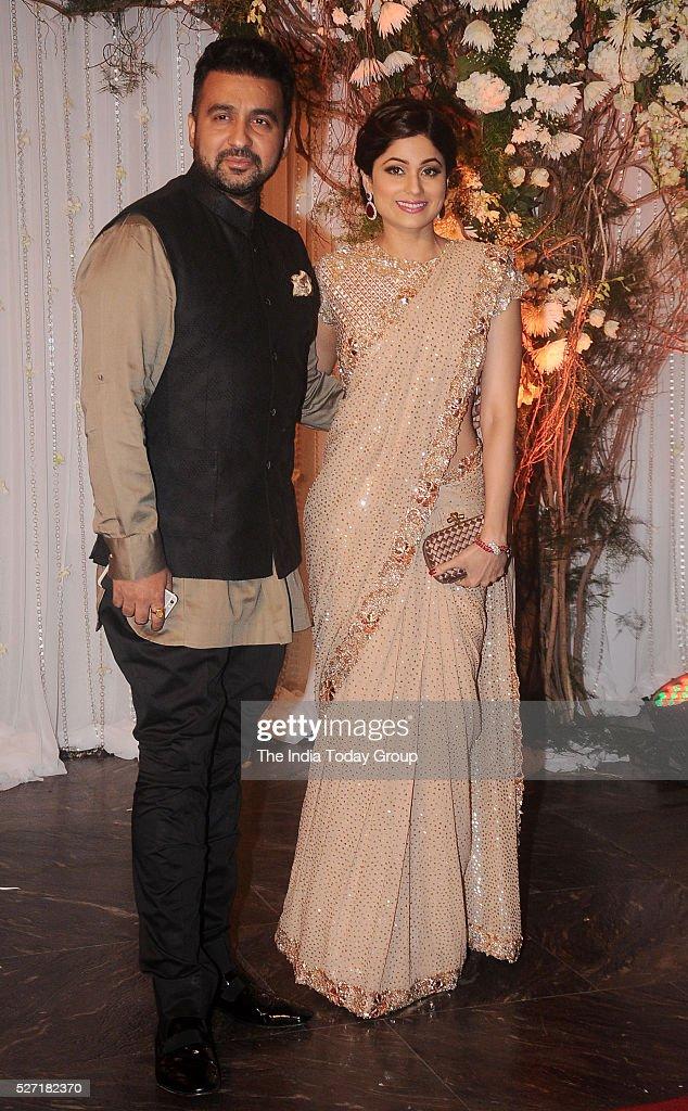 Raj Kundra and Shamita Shetty at Bipasha Basu and Karan Singh Grovers wedding reception ceremony at St Regis Hotel in Mumbai