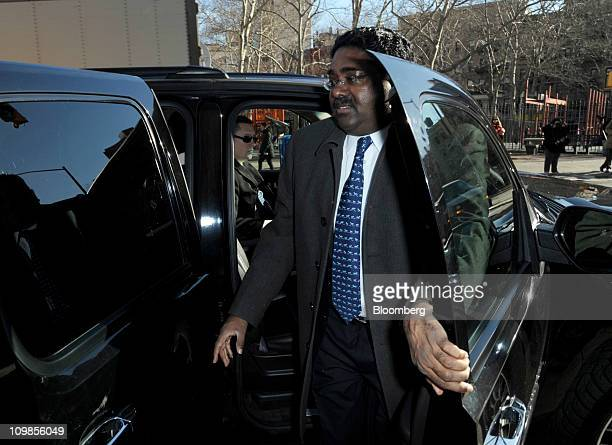 Raj Rajaratnam the Galleon Group cofounder accused of insider trading arrives at federal court for the start of his trial in New York US on Tuesday...