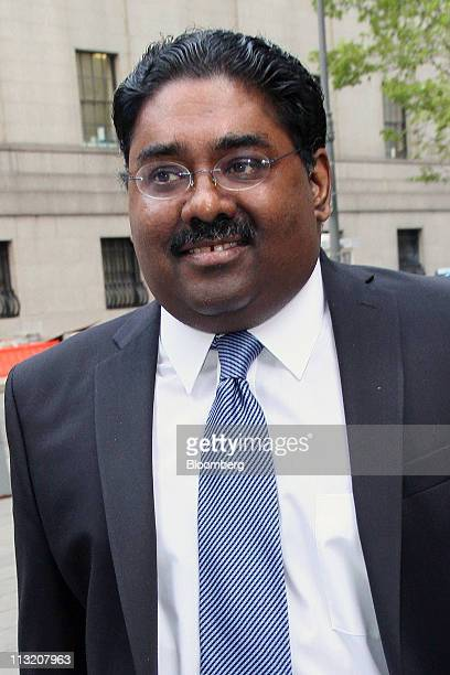 Raj Rajaratnam the Galleon Group LLC cofounder accused of insider trading arrives at federal court in New York US on Wednesday April 27 2011 Jurors...