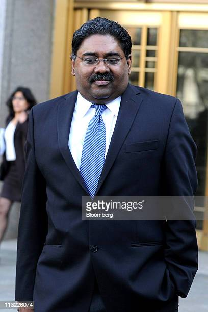Raj Rajaratnam the Galleon Group LLC cofounder accused of insider trading exits federal court in New York US on Wednesday April 27 2011 Jurors in the...