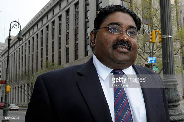 Raj Rajaratnam the Galleon Group LLC cofounder accused of insider trading arrives at federal court in New York US on Thursday April 28 2011...