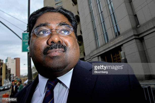 Raj Rajaratnam the Galleon Group LLC cofounder accused of insider trading exits at federal court in New York US on Thursday April 28 2011 Prosecutors...
