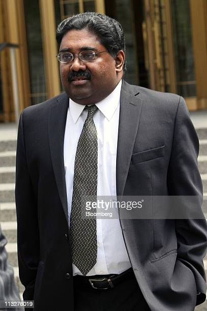 Raj Rajaratnam the Galleon Group LLC cofounder accused of insider trading exits federal court in New York US on Friday April 29 2011 The jury is...