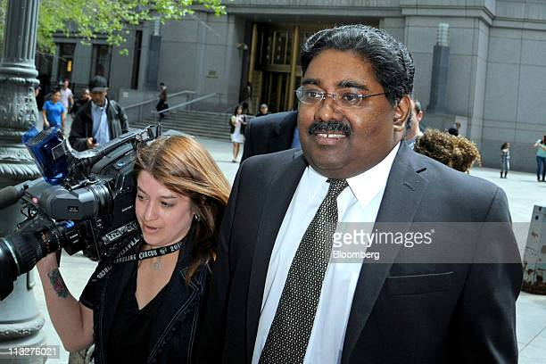 Raj Rajaratnam the Galleon Group LLC cofounder accused of insider trading right exits federal court in New York US on Friday April 29 2011 The jury...