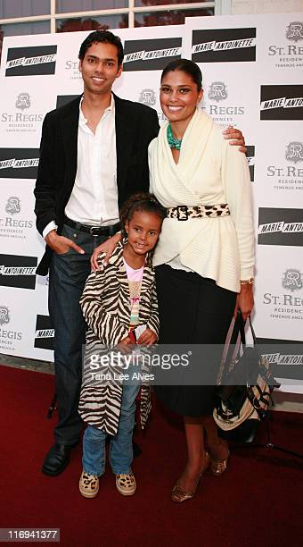 Raj Roy Rachel Roy and daughter during Robert FX Sillerman and Paul Kanavos Celebrate the St Regis Residences Temenos Anguilla by Hosting a Screening...