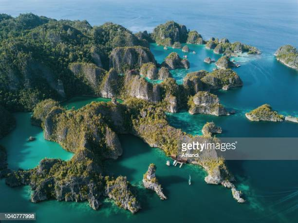 raja ampat archipelago, west papua, indonesia - raja ampat islands stock photos and pictures