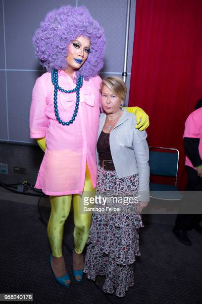 Raja and Yeardley Smith attend the 4th Annual RuPaul's DragCon at Los Angeles Convention Center on May 13 2018 in Los Angeles California