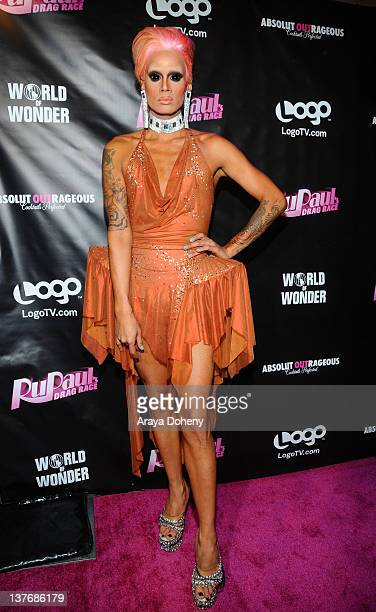Raja attends the 'RuPaul's Drag Race' Season 4 Premiere Party at Eleven NightClub on January 24 2012 in West Hollywood California