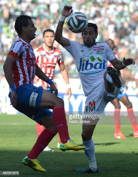 Raja Club Atletic's Adil KARROUCHY controls the ball against Moghreb Athletic of Tetouan on May 19 2014 in Casablanca Raja Club Atletic won the match...