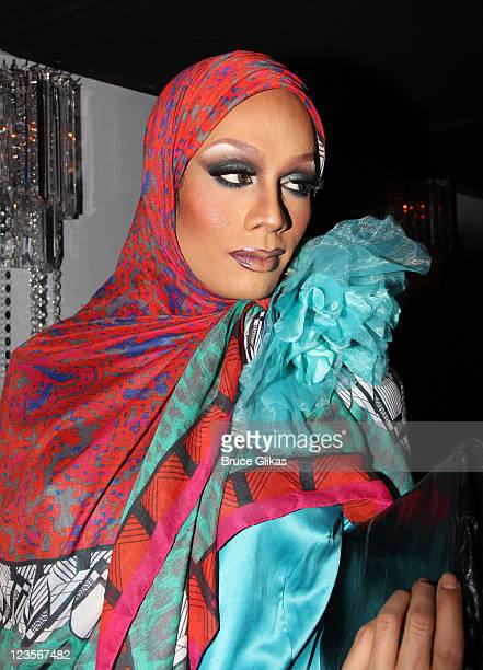 Raja from 'RuPaul's Drag Race' poses at the new nightclub 'Club Rockit' at District 36 on April 10 2011 in New York City