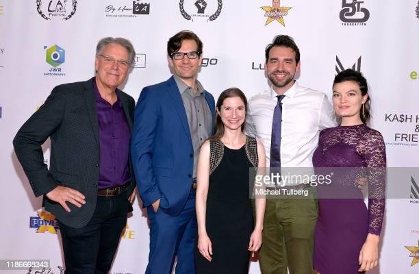 Raja Gosnell Daniel Floren Alicia Joy LeBlanc Bradley Gosnell and Delaney Milbourn attend the Kash Hovey and Friends Film Block at Film Fest LA at...