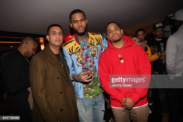 Raja Mack Wilds and Dave East attend 'The Breaks' Viewing Party at 40 / 40 Club on February 20 2017 in New York City