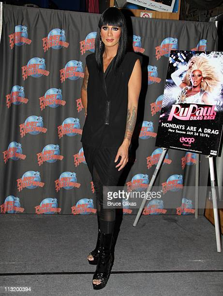 Raja The Winner of 'RuPaul's Drag Race' Season 3 visits Planet Hollywood Times Square on April 26 2011 in New York City