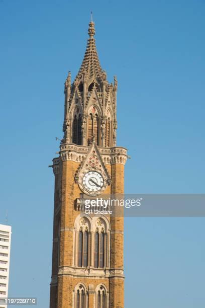 rajabai tower, mumbai, maharashtra, india, - clock tower stock pictures, royalty-free photos & images