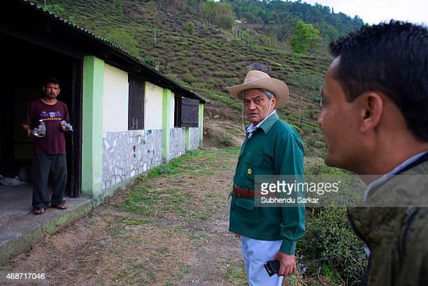 Rajah Banerjee talks to his staff at Makaibari tea estate Set up in 1859 off Kurseong in the Darjeeling hills the Makaibari estate is the worlds...