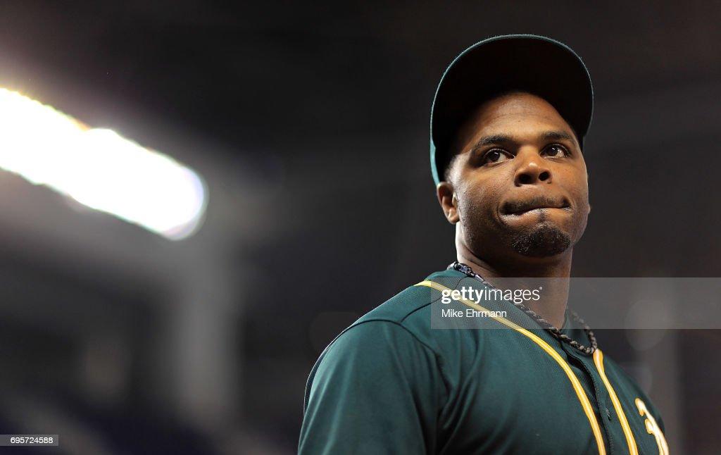 Oakland Athletics v Miami Marlins : News Photo