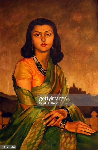 Rajamata Gayatri Devi - Queen Mother of Jaipur- Built in 1835 as hunting house on a 24 hectare land, then turned into a palace in 1923, Rambagh...