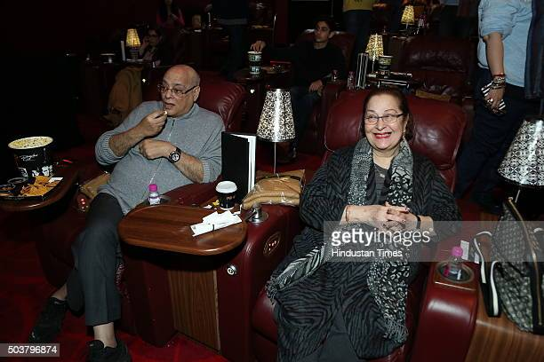 Rajan Nanda and Ritu Nanda during the special screening of movie Wazir on January 4 2016 in New Delhi India The movie is scheduled to release on...