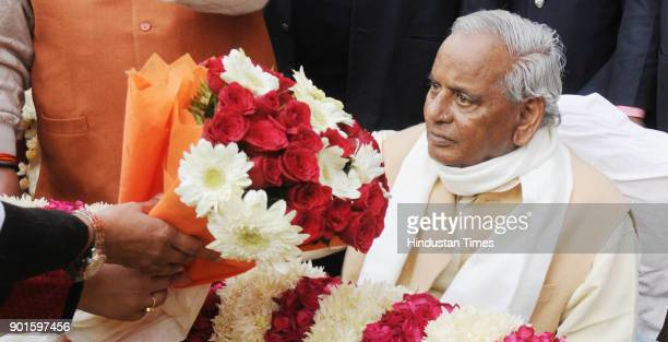 Rajasthan governor and former chief minister of Uttar Pradesh Kalyan Singh on his 86th birthday celebration on January 5 2018 in Lucknow India