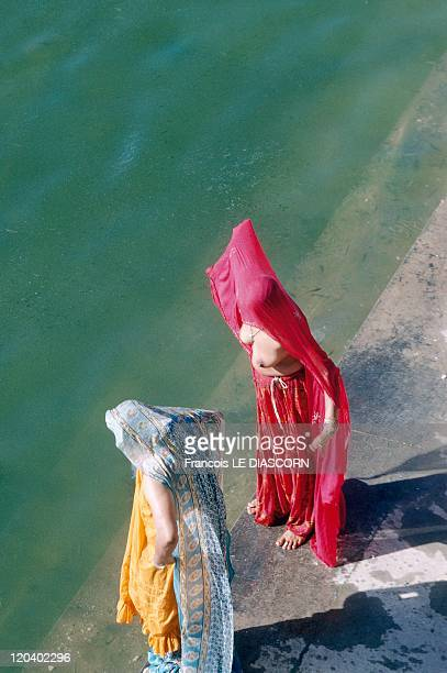 Rajasthan In Pushkar India Ritual bath in Pushkar