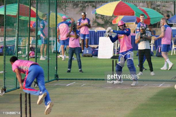 Rajasthan Royals batsman Ashton Turner during the practice session ahead the Indian Premier league IPL 2019 match against Kolkata Knight Riders in...