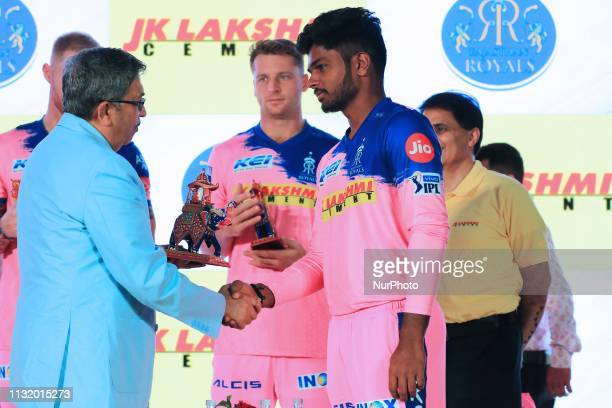 Rajasthan Royals player Jos Butler during the team jersey unveiled ceremony ahead the IPL 2019 matches in Jaipur Rajasthan India on March 222019