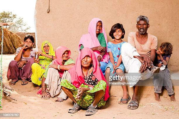 Rajasthan Traditional Rural Indian People Family in a village