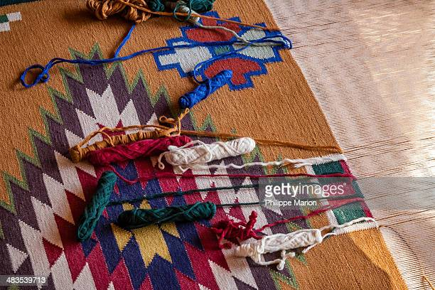 Rajasthani folk carpet loom