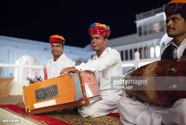 rajasthani folk music group - folk music stock pictures, royalty-free photos & images