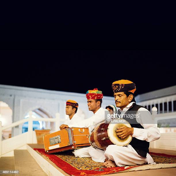 rajasthani folk music group - indian music stock photos and pictures