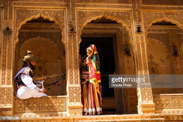 Rajasthani folk singer, Khuhri, Jaisalmer, Rajasthan, India