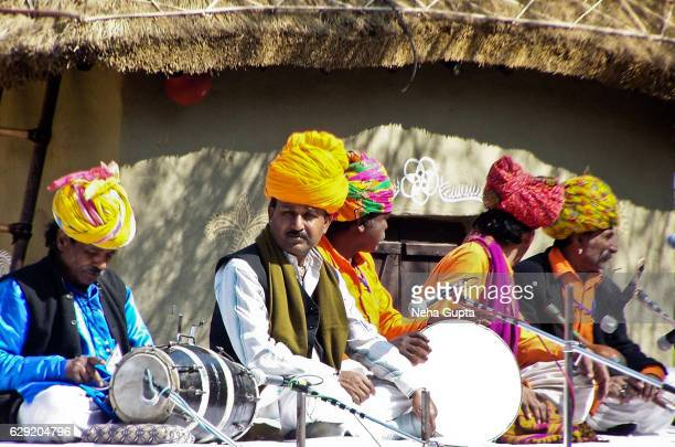 rajasthani musicians - neha gupta stock pictures, royalty-free photos & images