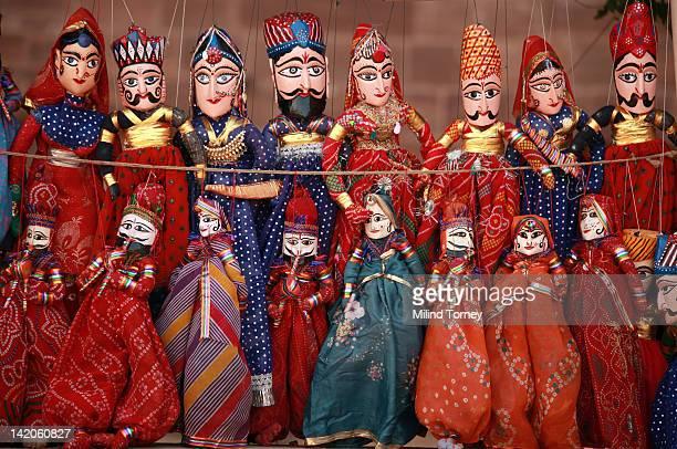 Rajasthani puppets on display