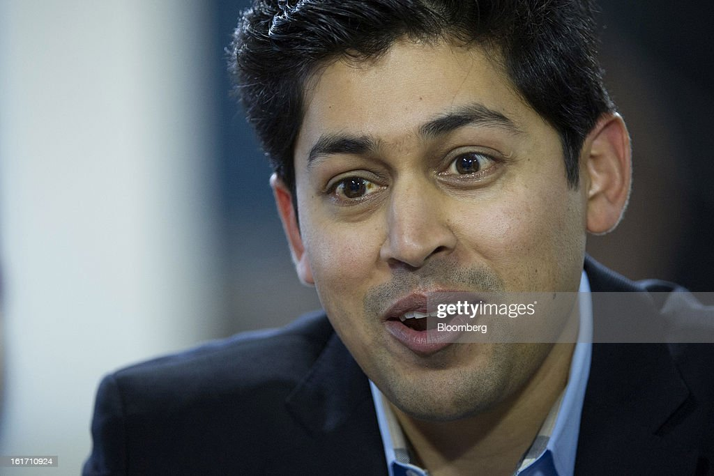 Rajeev Goel, co-founder and chief executive officer of PubMatic Inc., speaks during a Bloomberg West Television interview in San Francisco, California, U.S., on Wednesday, Feb. 13, 2013. PubMatic Inc. renders online ad monetization and management technology services. Photographer: David Paul Morris/Bloomberg via Getty Images