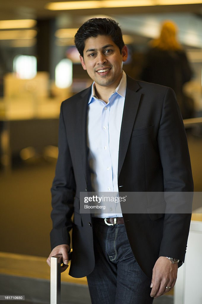 Rajeev Goel, co-founder and chief executive officer of PubMatic Inc., stands for a photograph after a Bloomberg West Television interview in San Francisco, California, U.S., on Wednesday, Feb. 13, 2013. PubMatic Inc. renders online ad monetization and management technology services. Photographer: David Paul Morris/Bloomberg via Getty Images