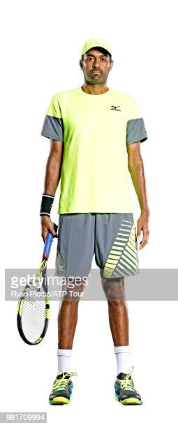 Rajeev Ram of the United States poses for portraits during the Australian Open at Melbourne Park on January 10 2018 in Melbourne Australia